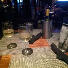 Wine Wednesday at @perkinsrowebr #winedownwednesday with @callistafoster