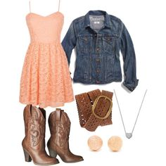 Minus the ugly fake cowboy boots. Give me a real pair of ariats and I can love this outfit Country Girl Outfits, Country Girl Style, Country Dresses, Country Fashion, Cowgirl Outfits, Country Girls, My Style, Western Dresses, Estilo Cowgirl