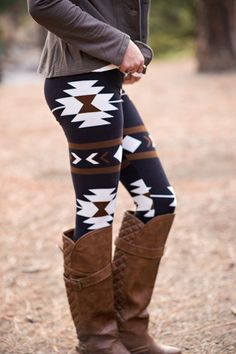 Grey instead of white would be better. Really cute, but white is too glaring. Love the idea of print leggings, but have yet to find some worth buying. Don't like the boots.