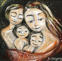 mother and child art print Close To Me archival by kmberggren, $29.00