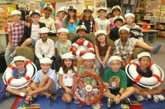 Cool idea for a sailor party for kids. #NauticalParty #partycheap