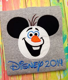 Frozen Olaf with Mickey Ears Shirt  by MajorMonograms on Etsy, $22.00