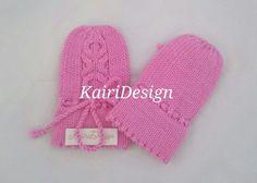Baby mittens machine knitting pattern 0-6 and 6-12 by kairidesign