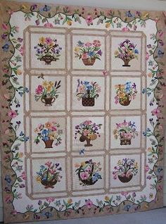 "Blossoms of Friendship from the book ""Delightful Quilts in Bloom by Mary Ross"