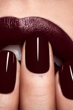 The perfect lip and nail colour to go with our Chi Chi London burgundy dresses! #AW14 #chichilondon #chichiclothing
