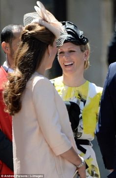 British Royals Leave Westminster Abbey In This Photo: Kate Middleton, Zara Phillips Catherine, Duchess of Cambridge and Zara Phillips attend a service marking the anniversary of the Queen's Coronation at Westminster Abbey in London. Duke And Duchess, Duchess Of Cambridge, Catherine Cambridge, St Edward's Crown, Queen's Coronation, Zara Phillips, Prince George Alexander Louis, Kate Middleton Photos, Royal Queen