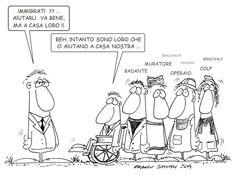 L'ìmmigrazione non un problema ma una risorsa.. #immigrazione #vignette #satira