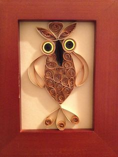 Quilled owl. $5.00, via Etsy.