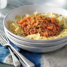 Ragoût de porc à l'italienne à la mijoteuse Quick Meals, Fried Rice, Crockpot Recipes, Instant Pot, Slow Cooker, Main Dishes, Food And Drink, Pizza, Soup