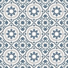 Moroccan Cement tiles are durable, easy to clean and naturally insulating. Cement tiles gives that beautiful ethnic edge on your home Tiles Texture, Tiles, Vintage Interiors, Medallion Wallpaper, Beauty Kitchens, Cement Tile, Master Shower, Tile Patterns, Patterned Vinyl