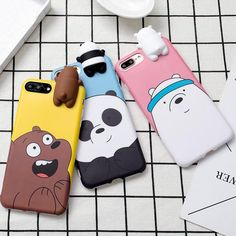 3D We Bare Bears Case for iPhone 8/8 Plus & iPhone X – OhMyKawaiiShop.com #iphone8case,