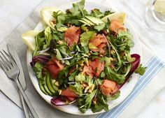 Sirt super salmon salad, from the sirtfood diet at www.redonline.co.uk