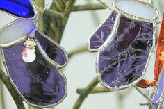 Purple glue chip mittens!   Beautiful!!