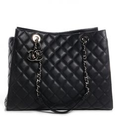 CHANEL Calfskin Quilted Chic and Soft Large Shopping Tote Black