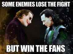 """As illustrated here, heroes may be winning the battles, but the villains are winning the fans. There has been an increase in the popularity of villains and we can relate it to the """"realness"""" of the characters. Being able to see the flaws in the characters forges a stronger bond between the viewers and the villains as compared to the superheroes."""