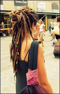 Dreadlocks with Partial Updo. via Facebook Dreadlock Community.