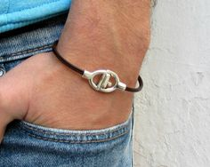 Leather Mens Bracelet Mens For Men  Boyfriend For by GUSFREE