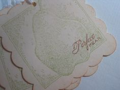 Vintage Wedding Perfect Pear Gift Tags by wkburden on Etsy, $3.99