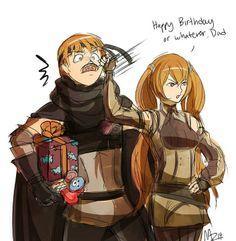 Fire Emblem Awakening | Gaius | Severa Source: http://miharuzee.tumblr.com/post/71998384897/happy-birthday-gaius-eat-lots-of-sweets-today-for