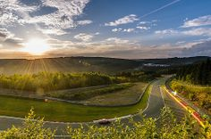 Sunset at Spa-Francorchamps
