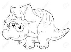 16499572-illustration-of-Cartoon-dinosaur-outline-Stock-Vector-baby.jpg (1300×971)