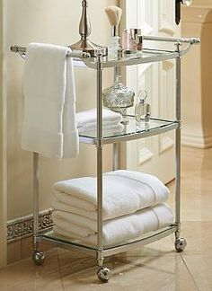 Ideal for your master bath, or as a mobile morning essentials cart for guests, the Belmont 3-Tier Rolling Bath Cart elegantly helps you through your morning routine.