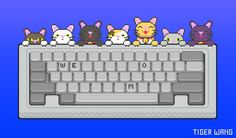 """bumacorns: """" KittyKeys is back and it's meowier than ever! Install on Chrome or Firefox so you can listen to cats, kittens and kitties as you type. Made by and Meow. National Cat Day, Cats And Kittens, Cat Lovers, 1, Kitty, Animation, Memes, Gifs, October 29"""