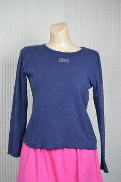 Abercrombie Juniors M Blue cotton long sleeve Blouse Casual Solid # ...