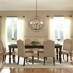 Baxton Studio Zachary Chic French 7 Piece Rectangular Dining Table Set | from hayneedle.com