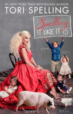 I love working with Tori Spelling recording her audiobooks!  Have a listen, you can't help but love her.