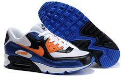 buy popular 3e72b 9c56c Nike Running Air Max 90 White Bright Mandarin Black Trainers Mens Nike Air  Max 90s,