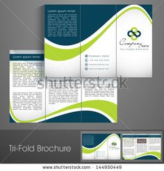 Professional business three fold flyer template, corporate brochure or cover design, can be use for publishing, print and presentation. by A...