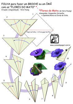 """Diagrama da """"Folha para uma Flor do Mato"""" -  Vera Young"""