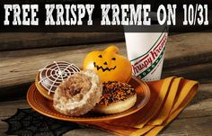 Free Krispy Kreme Donut on October 31, 2015