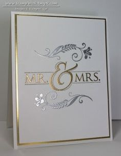 Mr. & Mrs. 1 - Stamp With Amy K