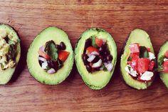 A fun way to present #avocadosalad three ways