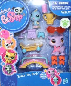 Littlest Pet Shop Rollin' Fun Park Gift Pack - Includes Pet #2043 and #2044 - Ages 4 and Up by Hasbro, http://www.amazon.com/dp/B005NKMCTY/ref=cm_sw_r_pi_dp_mik5rb11G79H6