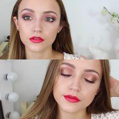 Neon Coral Lips   Makeup Tutorial
