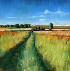 Art Print titled 'Abandoned Path landscape' by Ria Hills found at Art By Hue. Works well with Behr P360-7 Sassy Grass #homedecor