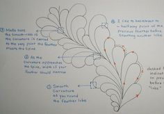 Thread Talk from my Sewing Machine #27 « Ivory Spring. She does bump feathers.  This is the anatomy of each lobe.