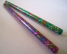 Purple Green Mango Pencil by Kirin Japan 80s Kawaii by JirjiMirji, €5.00