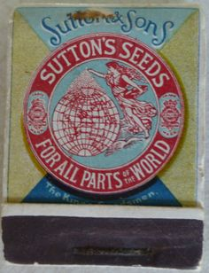 Sutton & Sons Book of matches Sutton's Seeds For All Parts of the World The King's Seedsmen, Reading c 1930s(?)