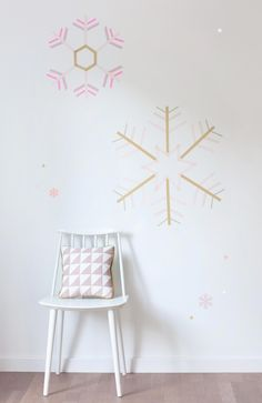 all washi tapes: Copos de nieve con Washi Tape