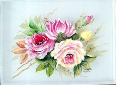 Rosas sobre seda.