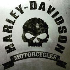 plate airbrushed vintage style Harley Davidson