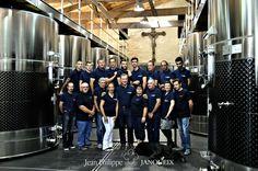 JEAN PHILIPPE JANOUEIX DOMAINES - Our great team in the vat cellar of Château Croix Mouton. #wine #jpjdomaines #pomerol #saintémiliongrandcru #saintgeorgessaintemilion #bordeauxsupérieur