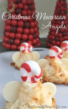 Christmas Coconut Macaroon Angels Recipe - A Fun Holiday Food - Macaroons are…
