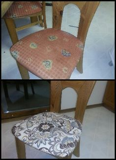 Before and After Chair coverings