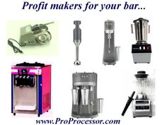 Professional Processor not only deals with all kind of meat processing equipment but also with all kind of bar equipment.