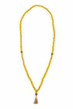 In Gratitude Bead Necklace - Lemon Yellow Jewelry for a Cause. $50.00